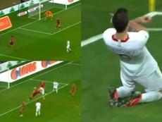Lewandowski volvió a marcar con Polonia ocho partidos después. Capturas/NAZYWOSport