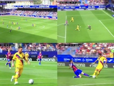 The third goal saw Messi, Griezmann and Suarez at their best. Captura/MovistarLaLiga