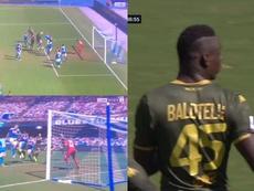 Y 1.469 días después, Balotelli volvió a marcar en la Serie A. Captura/beINSPORTS
