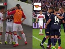 Gentner adelantó al Stuttgart y Abdullahi empató dos minutos después. Capturas/FOXSports