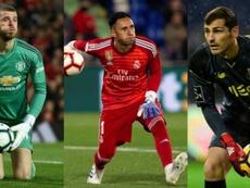 Il destino unisce De Gea e Keylor Navas... e Casillas. EFE/AFP