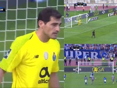 Casillas could do nothing. Screenshot/Twitter