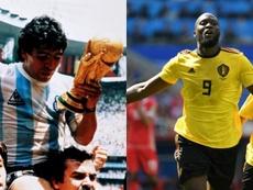 Maradona y Lukaku comparten récord. AFP
