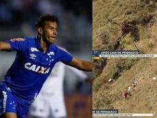 Tuvo que ser rescatado por los bomberos. Twitter/Cruzeiro/BomDiaMinas