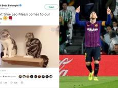 O Betis recorreu ao humor para mostrar como parar Messi. EFE/RealBetisBalompié
