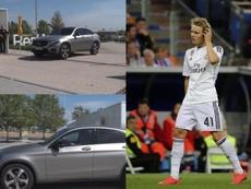 Martin Odegaard realizou o reconhecimento médico com o Real Madrid. Captura/MARCATV/EFE