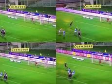 Erick Pulga marque son premier but en Serie A, en copiant Neymar. Captures/ESPN
