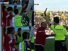El Grosseto terminó llevándose la victoria. Captura/Sportitalia