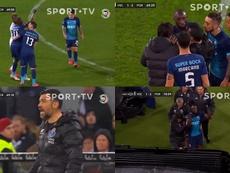 Alvo de insultos racistas, Marega abandona jogo do Porto. Captura/VSports