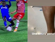 Djené se quejó de que no era penalti. Capturas/MovistarLaLiga-Instagram/djenedakonam