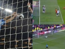 Calcan el penalti de Suárez ante Ghana... con idéntico resultado. AFP/ElevenSports
