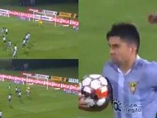 Enzo Zidane se estrena en la dura derrota de Desportivo Aves. Capturas/LIGANOS