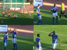 Primer gol de Mathias Pogba con el Manchego... ¡y triple celebración! Twitter/DeportesCMM