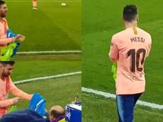 O emotivo gesto de Messi com uma pessoa com diversidade funcional. Capturas/ilovefutboll