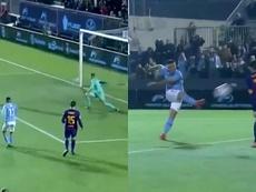 Le poteau et Neto ont évité une catastrophe majeure au Barça en 45 minutes fatidiques. Capture/DAZN