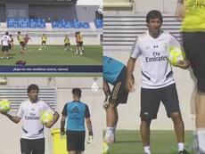 Raúl ya guía a los canteranos madridistas. Twitter/CanteraRealMadrid