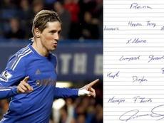 Torres no dudó en ponerse como entrenador de este gran equipo. EFE/ChelseaFC