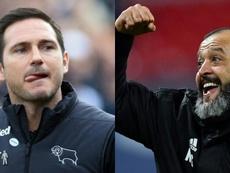 Lampard y Nuno, opciones para el Chelsea. AFP