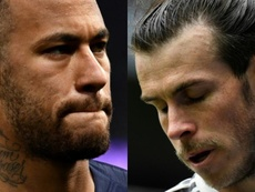 Neymar y Bale, unidos en sus desgracias. AFP