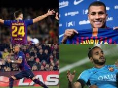 Até quatro jogadores do Barcelona encerram seus vínculos com o Barcelona. AFP/EFE