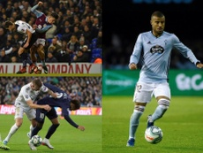 The footballers which get fouled the most. Montaje/AFP/EFE
