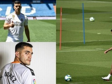 Montagem com Jovic, Neymar e Maxi Gómez. EFE/AFP/Valencia