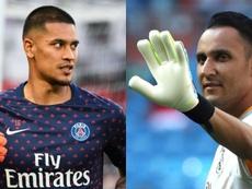 Scambio di portieri tra Real Madrid e PSG. EFE/AFP