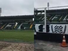 Hinchas del Figueirense atacaron a los jugadores de la plantilla. Capturas/polidorojunior