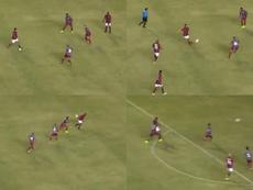 Ronaldinho volvió a hacer magia con una asistencia sin mirar. Capturas/CentralFoxBrasil