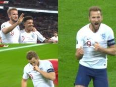 Kane marcó un histórico 'hat trick' en la primera mitad. Capturas/ESPNDeportes