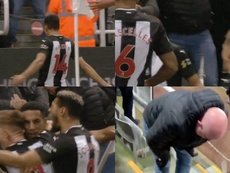 Hayden scored, but Ritchie caused injury to one Newcastle supporter. Capturas/NUFC