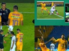 Gignac, de expulsado a goleador en cinco minutos. Capturas/TUDN