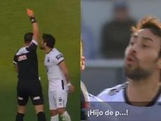 Valdivia pidió disculpas tras el suceso al árbitro y a sus compañeros. Capturas/CDF