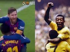 Messi, sin querer, imitó a Pelé. EFE