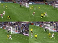 Doble genialidad de Van de Beek en el VVV Venlo-Ajax. Capturas/FoxSports2