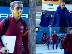 Montage of Barca's arrival in the capital. Screenshot/FCBarcelona_es