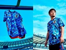 Kubo, effigie du nouveau maillot de la Sélection Japonaise. Adidas