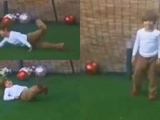 El hijo de Casillas, portero en sus ratos libres. Instagram/IkerCasillas