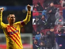 Messi marcou o gol da vitória azul-graná. Captura/GOL/EFE