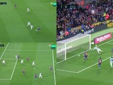 A great Barca goal was taken away by the VAR. Capturas/MovistarLaLiga