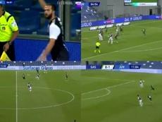 Pjanic brilló ante el Sassuolo. Captura/Movistar+/BeInSports
