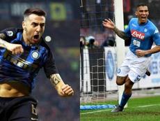 Inter y Nápoles quieren intercambiarse dos centrocampistas. EFE - AFP