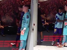 Messi, sconsolato dopo il poker. ESPN