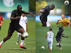 Lukaku marca quatro em sua estreia pela Inter. Inter