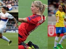 Ada Hegerberg, Dzsenifer Marozsán e Marta Vieria The Best de melhor jogadora. AFP
