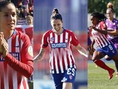 Tres dobletes de tres futbolistas antes del descanso. Twitter/AtletiFemenino