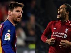 Van Dijk, plus favori que Messi pour gagner le Ballon d'Or.EFE-AFP
