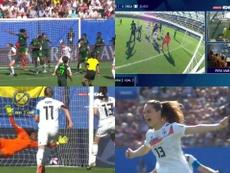 Del posible gol anulado de Alemania al segundo tanto germano. Captura/GOL