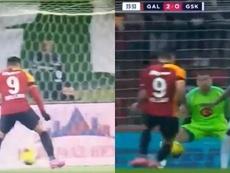 Aos 34 anos, Falcao soma nove gols em 18 jogos pelo Galatasaray. Capturas/BeINSports