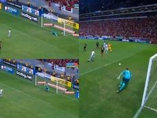 Sigue creciendo la leyenda de Diego Alves: ¡dos penaltis parados en 23. Twitter/CampeonatoBrasileiro